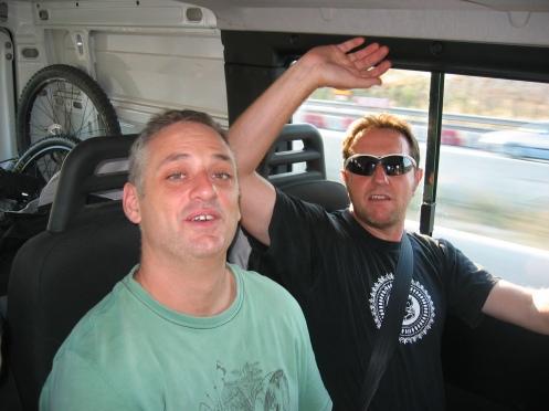 dentro de la furgoneta